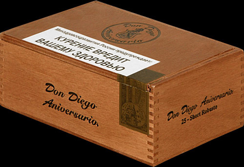 Don Diego Aniversary Export Short Robusto. Коробка на 25 сигар