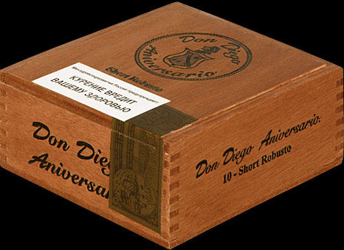 Don Diego Aniversary Export Short Robusto. Коробка на 10 сигар