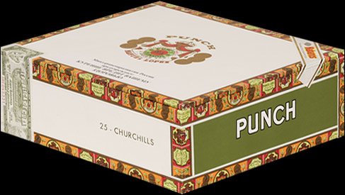 Punch Churchills Tubos. Коробка на 25 сигар