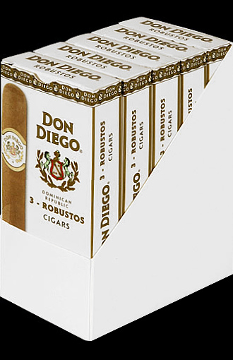 Don Diego Europa Export Robusto. Коробка на 3 сигары